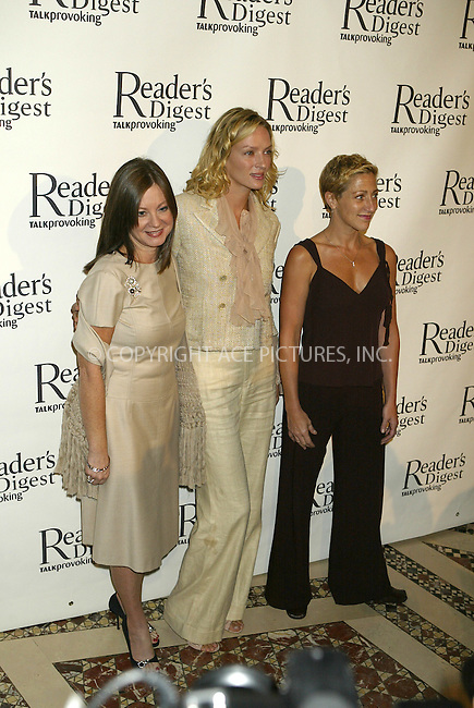 WWW.ACEPIXS.COM ** ** ** ....NEW YORK, SEPTEMBER 28, 2004....Judy Nathan, Uma Thurman and Edie Falco attend the Reader's Digest Caring Companies Luncheon at Cipriani on 42nd Street in NYC.....Please byline: Philip Vaughan -- ACE PICTURES... *** ***  ..Ace Pictures, Inc:  ..Alecsey Boldeskul (646) 267-6913 ..Philip Vaughan (646) 769-0430..e-mail: info@acepixs.com..web: http://www.acepixs.com
