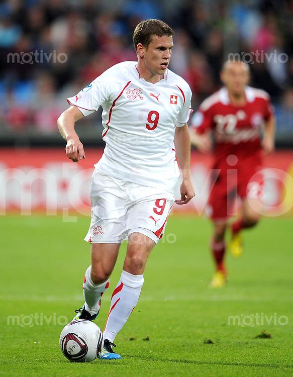 FUSSBALL   UEFA U21-EUROPAMEISTERSCHAFT 2011   GRUPPENPHASE Daenemark - Schweiz    11.06.2011 Fabian Frei (Schweiz)