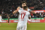 08.02.2019, Rheinenergiestadion, Köln, GER, DFL, 2. BL, VfL 1. FC Koeln vs FC St. Pauli, DFL regulations prohibit any use of photographs as image sequences and/or quasi-video<br /> <br /> im Bild Jonas Hector (#14, 1.FC Köln / Koeln) Christian Clemens (#17, 1.FC Köln / Koeln) feiern das Tor zum 2:1 Torschuetze Jhon Cordoba (#15, 1.FC Köln / Koeln)  <br /> <br /> Foto © nph/Mauelshagen