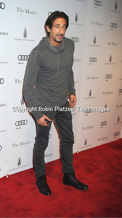 """Adrien Brody attends the special screening of """"The Master"""" on September 11, 2012 at The Ziegfeld Theatre in New York City which was presented by The Peggy Siegal Company."""