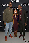 Khris Davis, Michelle Wilson and John Earl Jelks attend the photocall for the Broadway cast of 'Sweat'  at The New 42nd Street Studios on 2/16/2017 in New York City.