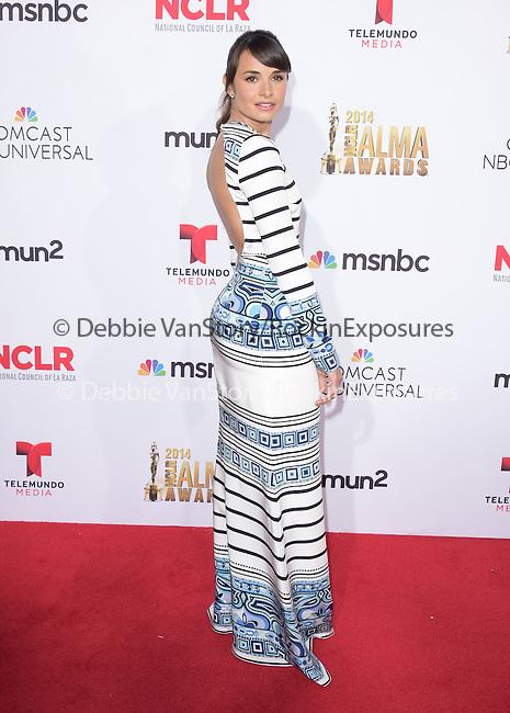 Mia Maestro attends The 2014 NCLR Alma Awards held at The Pasadena Civic Center in Pasadena, California on October 10,2014                                                                               © 2014 Hollywood Press Agency