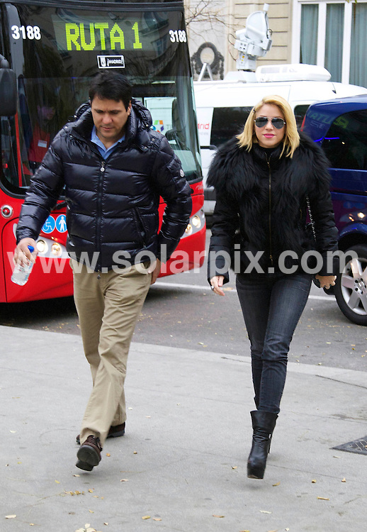 **ALL ROUND EXCLUSIVE PICTURES FROM SOLARPIX.COM**                                              **WORLDWIDE SYNDICATION RIGHTS EXCEPT SPAIN - NO SYNDICATION IN SPAIN**                                                                                  Caption: Columbian Pop singer Shakira takes a stroll with her boyfriend F1 racing driver Gerard Pique  family  Joan & Montserra Piquet in Madrid .After the couple watched the match between Real Madrid & Barcelona. Gerard flew off to Japan leaving Shakira to visit some of the sights in the Spanish capital including the Art museum Prado..                                                                           .This pic: Shakira                                                                                            JOB REF: 14296       DGM       DATE: 12.12.2011                                                           **MUST CREDIT SOLARPIX.COM OR DOUBLE FEE WILL BE CHARGED**                                                                      **MUST AGREE FEE BEFORE ONLINE USAGE**                               **CALL US ON: +34 952 811 768 or LOW RATE FROM UK 0844 617 7637**