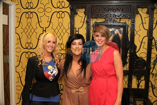 Michelle Kells, Ciara Brannigan and Niamh Rooney at the Westcourt, on their way into see the White Collar Boxing..Picture: Shane Maguire / www.newsfile.ie