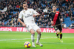 Lucas Vazquez of Real Madrid and Alex Moreno of Rayo Vallecano during La Liga match between Real Madrid and Rayo Vallecano at Santiago Bernabeu Stadium in Madrid, Spain. December 15, 2018. (ALTERPHOTOS/Borja B.Hojas)