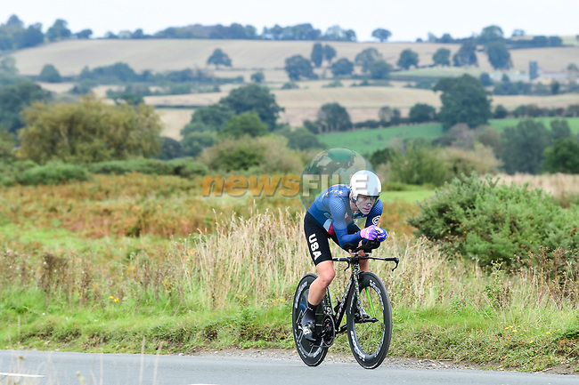 G Lawson Craddock of USA in action during the Men Elite Individual Time Trial of the UCI World Championships 2019 running 54km from Northallerton to Harrogate, England. 25th September 2019.<br /> Picture: Alex Broadway/SWpix.com | Cyclefile<br /> <br /> All photos usage must carry mandatory copyright credit (© Cyclefile | Alex Broadway/SWpix.com)