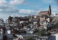 The Faravohitra Church stands above Antananarivo, Madagascar in 1996.