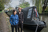 Joel & Shireen, temporary mooring on the Grand Union canal, Rickmansworth.