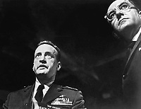 Dr. Strangelove or: How I Learned to Stop Worrying and Love the Bomb (1964)<br /> Peter Sellers &amp; George C. Scott<br /> *Filmstill - Editorial Use Only*<br /> CAP/KFS<br /> Image supplied by Capital Pictures