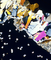 CITRIC ACID CRYSTALS<br /> Monohydrate C6H8O7, H2O Polarized light; liquefied & recrystallized