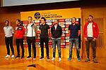 Alberto Contador (ESP), Vincenzo Nibali (ITA), Marcel Kittel (GER), Geraint Thomas (WAL), Alejandro Valverde (ESP), Matteo Trentin (ITA) and Alexander Kristoff (NOR) at the Opening Ceremony before the 2018 Saitama Criterium, Japan. 3rd November 2018.<br /> Picture: ASO/Yuzuru Sunada | Cyclefile<br /> <br /> <br /> All photos usage must carry mandatory copyright credit (© Cyclefile | ASO/Yuzuru Sunada)