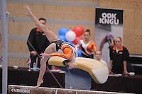 TURNEN: HOOFDDORP: Sportcomplex Koning Willem-Alexander, 03-10-2015, Turninterland als voorbereiding op het WK turnen in Glasgow, het herenturnen een interland tussen Nederland - Belarus, het damesturnen een interland Nederland - Engeland, Eythora Thorsdottir (NED), ©foto Martin de Jong