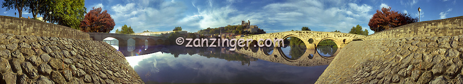 France, South, arched, Bridges, Waterway, CGI Backgrounds, ,Beautiful Background