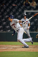 Brevard County Manatees shortstop Angel Ortega (2) at bat during a game against the Fort Myers Miracle on April 13, 2016 at Hammond Stadium in Fort Myers, Florida.  Fort Myers defeated Brevard County 3-0.  (Mike Janes/Four Seam Images)