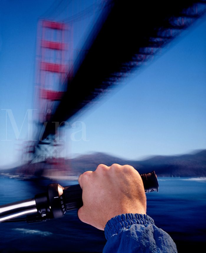 Golden gate biker.
