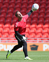 Fleetwood Town's Alex Cairns during the pre-match warm-up <br /> <br /> Photographer David Shipman/CameraSport<br /> <br /> The EFL Sky Bet League One - Doncaster Rovers v Fleetwood Town - Saturday 17th August 2019  - Keepmoat Stadium - Doncaster<br /> <br /> World Copyright © 2019 CameraSport. All rights reserved. 43 Linden Ave. Countesthorpe. Leicester. England. LE8 5PG - Tel: +44 (0) 116 277 4147 - admin@camerasport.com - www.camerasport.com