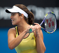 Ana Ivanovic (SRB) (20) against Shenay Perry USA in the First Round iof the Ladies Singles. Ivanovic beat Perry  6-2 6-3..International Tennis - Australian Open Tennis - Tuesday 19 Jan 2010 - Melbourne Park - Melbourne - Australia ..© Frey - AMN Images, 1st Floor, Barry House, 20-22 Worple Road, London, SW19 4DH.Tel - +44 20 8947 0100.mfrey@advantagemedianet.com