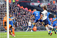 Harry Kane of Tottenham heads towards goal during Tottenham Hotspur vs AFC Wimbledon, Emirates FA Cup Football at Wembley Stadium on 7th January 2018