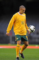 MELBOURNE, AUSTRALIA - OCTOBER 14: Carl Valeri from Australia warming up in a AFC Asian Cup 2011 match between Australia and Oman at Etihad Stadium on October 14, 2009 in Melbourne, Australia. Photo Sydney Low www.syd-low.com