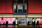 Debenhams end of year sales, Oxford Street, London.