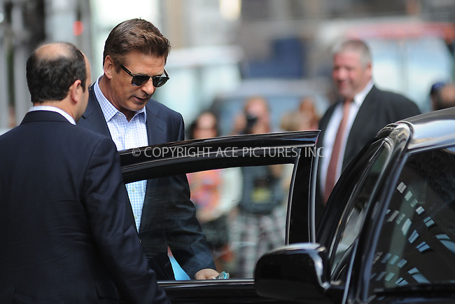 WWW.ACEPIXS.COM . . . . . .June 20, 2012...New York City.... Alec Baldwin tapes an appearance on the Late Show with David Letterman on June 20, 2012  in New York City ....Please byline: KRISTIN CALLAHAN - ACEPIXS.COM.. . . . . . ..Ace Pictures, Inc: ..tel: (212) 243 8787 or (646) 769 0430..e-mail: info@acepixs.com..web: http://www.acepixs.com .
