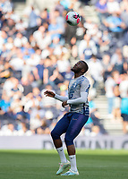 Tanguy NDombèlé of Tottenham Hotspur warms up before during the Premier League match between Tottenham Hotspur and Crystal Palace at Wembley Stadium, London, England on 14 September 2019. Photo by Vince  Mignott / PRiME Media Images.