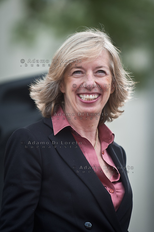 Il Ministro all'Istruzione del Governo Renzi Stefani Giannini a Silvi (TE), 27 Marzo 2015 - The minister of education Stefania Giannini, on MArch 27, 2015. Photo: Adamo Di Loreto/BuenaVista*photo