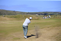 Sam Horsfield (ENG) plays his 2nd shot on the 3rd hole during Friday's Round 2 of the 2018 Dubai Duty Free Irish Open, held at Ballyliffin Golf Club, Ireland. 6th July 2018.<br /> Picture: Eoin Clarke | Golffile<br /> <br /> <br /> All photos usage must carry mandatory copyright credit (&copy; Golffile | Eoin Clarke)