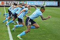 Piscataway, NJ - Saturday July 09, 2016: Tasha Kai prior to a regular season National Women's Soccer League (NWSL) match between Sky Blue FC and the Houston Dash at Yurcak Field.