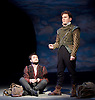 Rosencrantz &amp; Guildenstern Are Dead <br /> by Tom Stoppard <br /> at The Old Vic, London, Great Britain <br /> press photocall <br /> 3rd March 2016 <br /> EMBARGOED UNTIL 12 NOON ON MONDAY 6TH MARCH 2017 <br /> <br /> Daniel Radcliffe as Rosencrantz <br /> <br /> Josh McGuire as Guildenstern <br /> <br /> <br /> <br /> Photograph by Elliott Franks <br /> Image licensed to Elliott Franks Photography Services