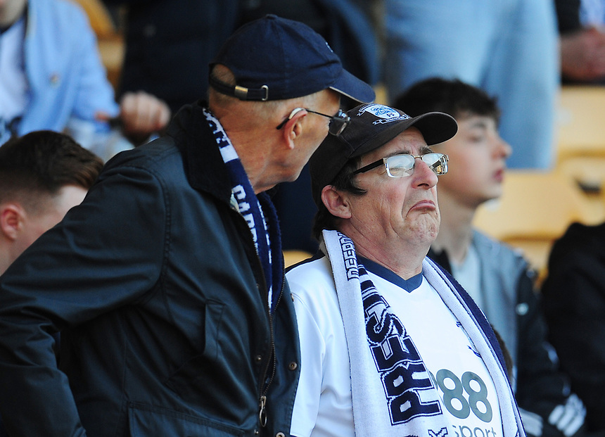 Preston North End fans enjoy the pre match build-up<br /> <br /> Photographer Kevin Barnes/CameraSport<br /> <br /> The EFL Sky Bet Championship - Wolverhampton Wanderers v Preston North End - Sunday 7th May 2017 - Molineux Stadium <br /> <br /> World Copyright &copy; 2017 CameraSport. All rights reserved. 43 Linden Ave. Countesthorpe. Leicester. England. LE8 5PG - Tel: +44 (0) 116 277 4147 - admin@camerasport.com - www.camerasport.com