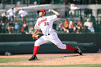 June 15th 2008:  Pitcher Thomas Melgarejo of the Great Lakes Loons, Class-affiliate of the Los Angeles Dodgers, during a game at Dow Diamond in Midland, MI.  Photo by:  Mike Janes/Four Seam Images