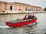 Fire boat, Venice, Italy.
