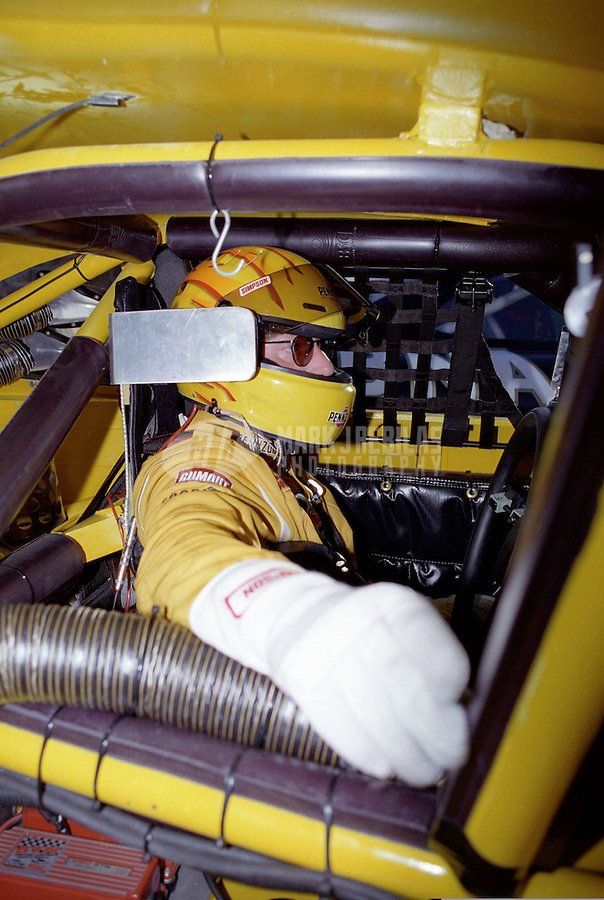 Nov. 1, 1997; Avondale, AZ, USA; NASCAR Winston Cup Series driver Johnny Benson during practice for the Dura Lube 500 at Phoenix International Raceway. Mandatory Credit: Mark J. Rebilas-
