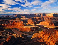Dead Horse Point in Morning Light, Colorado River and Canyonlands National Park beyond, Dead Horse Point State Park, Utah
