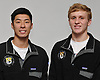 St. Anthony's boys swimmers Michael Chang, left, and Justin Meyn pose for a portrait during Newsday's 2018-19 season preview photo shoot at company headquarters in Melville on Monday, Dec. 3, 2018.