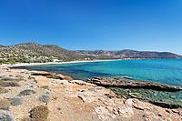 Agiassos beach in Naxos island, Greece