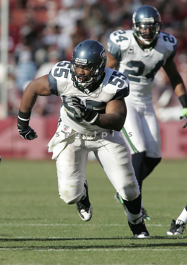 DARRYL TAPP, of the Seattle Seahawks, in action against the San Francisco 49ers during the Seahawks game in San Francisco, ca on October 26, 2008. .. Seahawks   win 34-13