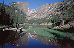 Dream Lake in Rocky Mountain National Park.<br />