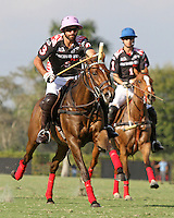 WELLINGTON, FL - FEBRUARY 05:  Facundo Pieres #3 of Orchard Hill heads down the field during one of the early matches of the Ylvisaker Cup at the International Polo Club Palm Beach on February 05, 2017 in Wellington, Florida. (Photo by Liz Lamont/Eclipse Sportswire/Getty Images)