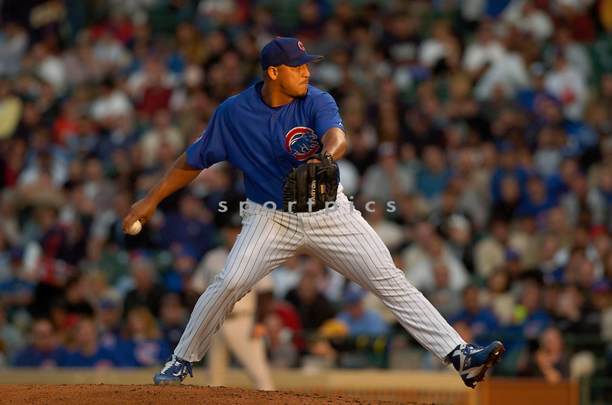 CARLOS ZAMBRANO, of the Chicago Cubs, in action against the Florida Marlins on April 24, 2006 in Chicago, IL...Cubs win 6-3..David Durochik / SportPics