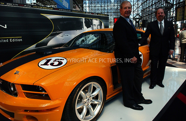 WWW.ACEPIXS.COM . . . . . ....NEW YORK, APRIL 13, 2006....Parnelli Jones unveling the Saleen Mustang at the New York Auto Show.....Please byline: KRISTIN CALLAHAN - ACEPIXS.COM.. . . . . . ..Ace Pictures, Inc:  ..(212) 243-8787 or (646) 679 0430..e-mail: info@acepixs.com..web: http://www.acepixs.com