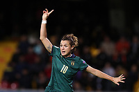 Cristiana Girelli of Italy gestures<br /> Benevento 08-11-2019 Stadio Ciro Vigorito <br /> Football UEFA Women's EURO 2021 <br /> Qualifying round - Group B <br /> Italy - Georgia<br /> Photo Cesare Purini / Insidefoto