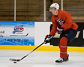 Jimmy Hayes (US White - 16) - US players take part in practice on Friday morning, August 8, 2008, in the NHL Rink during the 2008 US National Junior Evaluation Camp and Summer Hockey Challenge in Lake Placid, New York.