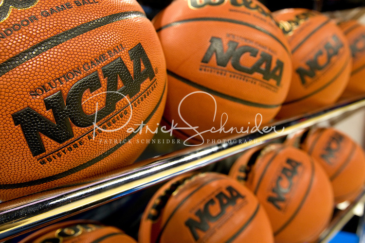 Official NCAA basketballs during the NCAA Basketball Men's East Regional at Time Warner Cable Arena in Charlotte, NC.