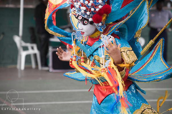 """Junior Carnival -Chinese costume queen, """"The Forbidden City"""" Girl dancing"""