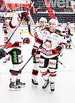 S&ouml;dert&auml;lje 2014-10-23 Ishockey Hockeyallsvenskan S&ouml;dert&auml;lje SK - Malm&ouml; Redhawks :  <br /> Malm&ouml; Redhawks Frederik Storm firar sitt 3-1 m&aring;l med lagkamrater<br /> (Foto: Kenta J&ouml;nsson) Nyckelord: Axa Sports Center Hockey Ishockey S&ouml;dert&auml;lje SK SSK Malm&ouml; Redhawks jubel gl&auml;dje lycka glad happy