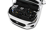 Car stock 2018 Hyundai Elantra GT GT Sport MT 5 Door Hatchback engine high angle detail view