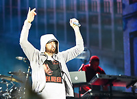 MANCHESTER, TN - JUNE 09: EMINEM performs during the 2018 Bonnaroo Music & Arts Festival on June 9, 2018 in Manchester, Tennessee. Credit: mpiFCU/MediaPunch