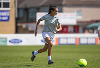 Danielle Sandhu (BINTM9 Finalist) in action during the 'Greatest Show on Turf' Celebrity Event - Once in a Blue Moon Events at the London Borough of Barking and Dagenham Stadium, London, England on 8 May 2016. Photo by Andy Rowland.